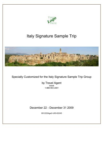 Travel Pack: Italy Signature Sample Trip - Italy ... - Kensington Tours
