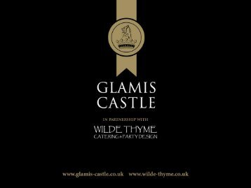 wedding brochure - Glamis Castle