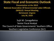 Sujit M. CanagaRetna Senior Fiscal Analyst The Council of ... - NAGLO