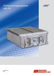 Plattenentmagnetisierer MM PE - Maurer Magnetic AG
