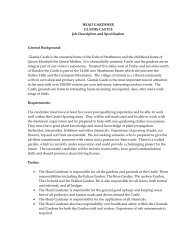 HEAD GARDENER GLAMIS CASTLE Job Description and ...