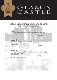 Only 1 Menu Choice per Group - Glamis Castle