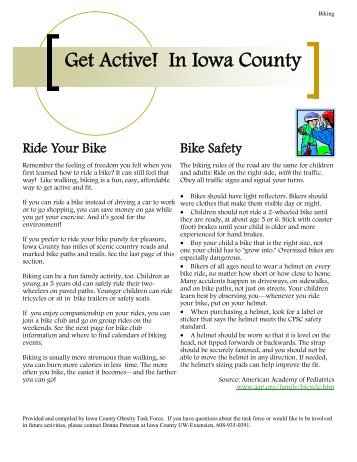 Get Active! In Iowa County