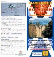 Glamis leaflet 2009 - Glamis Castle