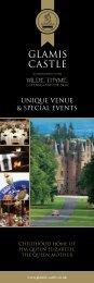 UNIQUE VENUE & SPECIAL EVENTS - Glamis Castle
