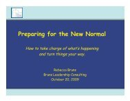 Preparing for the New Normal - Bruns Leadership Consulting