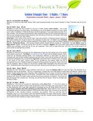 Golden Triangle Tour- 5 Nights / 7 Days: - Daun Hijau Travel.com