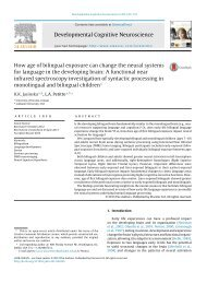 Jasinska and Petitto - NIRS syntactic processing in monolingual and bilingual children