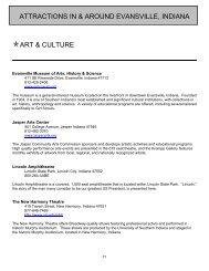 attractions in & around evansville, indiana art & culture