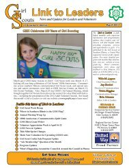 Apr 2012 - Girl Scouts of Southern Illinois