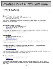ATTRACTIONS AROUND & IN TERRE HAUTE, INDIANA ART ...