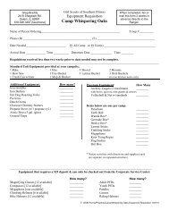 Camp Whispering Oaks Equipment Requisition Form - Girl Scouts of ...
