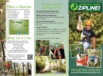 Zip Line Canopy Tour Brochure - Refreshing Mountain Camp