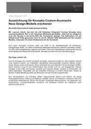 Auszeichnung Für Konopka Couture-Accessoire Neue Design ...