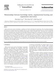 Relationships between knowledge inertia, organizational learning ...