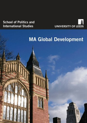 MA Global Development - School of Politics International Studies ...