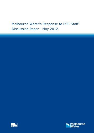 Melbourne Water - Essential Services Commission