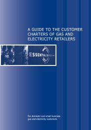 a guide to the customer charters of gas - Essential Services ...