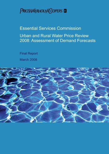 Demand Forecasts - Essential Services Commission