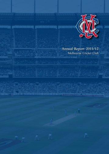 Annual Report 2011/12 - Melbourne Cricket Club