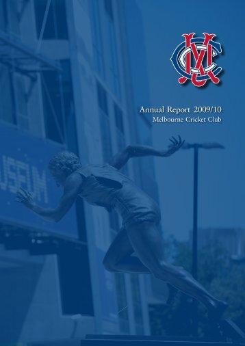 Annual Report 2009/10 - Melbourne Cricket Club