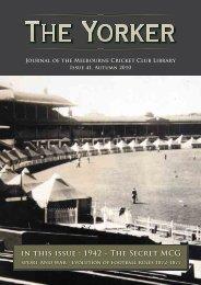 Issue 41: Autumn 2010 - Melbourne Cricket Club