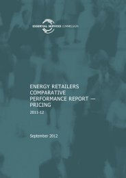 Energy retailers comparative performance report - Essential ...