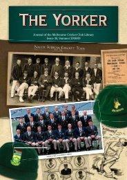 Issue 38: Summer 2008/09 - Melbourne Cricket Club