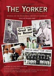 Issue 40: Summer 2009/10 - Melbourne Cricket Club