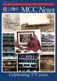 Celebrating 175 years - Melbourne Cricket Club