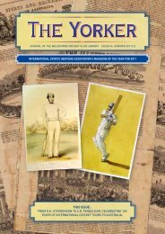 Issue 46: Summer 2011/12 - Melbourne Cricket Club