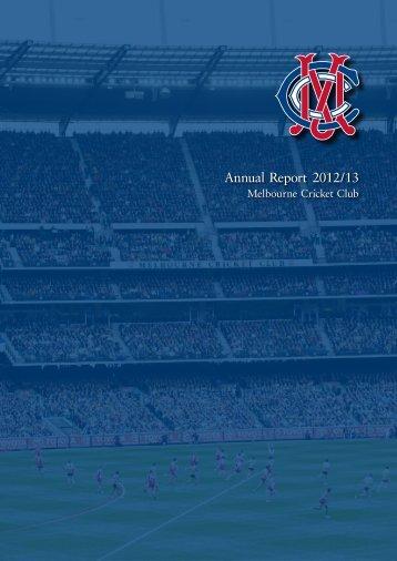 Annual Report 2012/13 - Melbourne Cricket Club