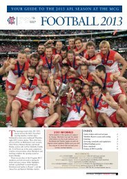 2013 Football Guide - Melbourne Cricket Club