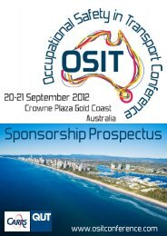 CONFERENCE WELCOME RECEPTION SPONSOR - Occupational ...