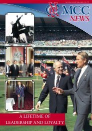 August - Melbourne Cricket Club