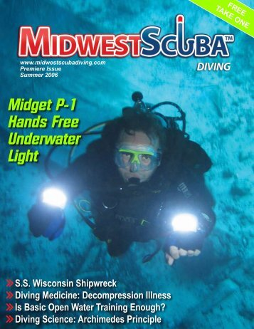 Midget P-1 Hands Free Underwater Light - Midwest Scuba Diving ...