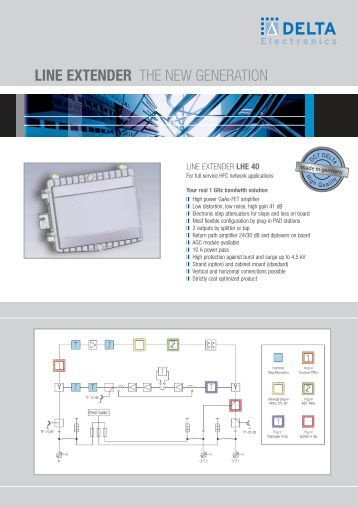 LINE EXTENDER THE NEW GENERATION - DELTA Electronics Spain