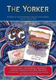 Issue 42: Spring 2010 - Melbourne Cricket Club