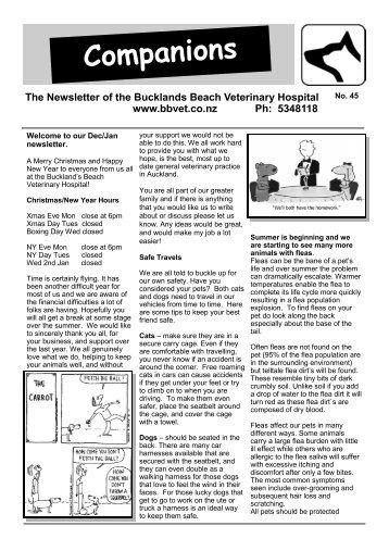 New Client Form - Bucklands Beach Veterinary Hospital