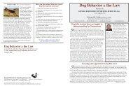 Dog Behavior & the Law - Animal behavior dog bite expert witness