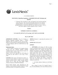 67 of 100 DOCUMENTS THE PEOPLE, Plaintiff and Appellant, v ...