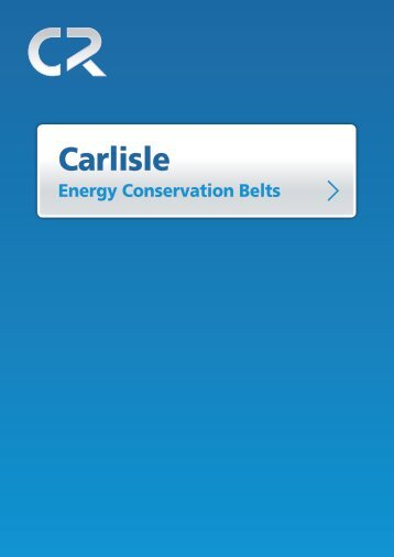 Carlisle Energy Conservation Belts - CR Products