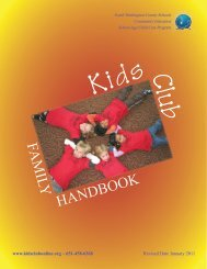 HANDBOOK FAMILY - Community Education