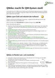 TOP Gründe für QMdoc - STP Consulting GmbH