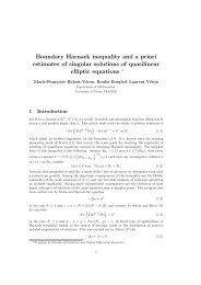 Boundary Harnack inequality and a priori estimates of singular ...