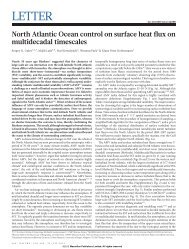 North Atlantic Ocean control on surface heat flux on multidecadal ...