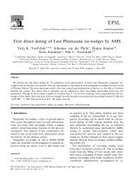 First direct dating of Late Pleistocene ice-wedges by AMS