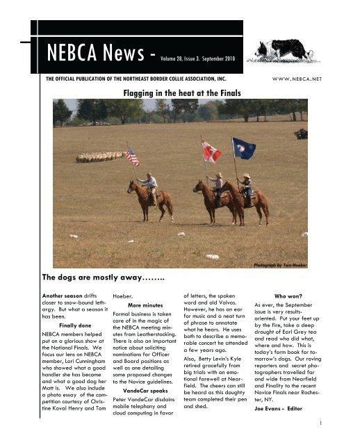 Fall 2010 - Northeast Border Collie Association