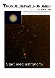 TRONDHEIMSASTRONOMEN - Trondheim Astronomiske Forening