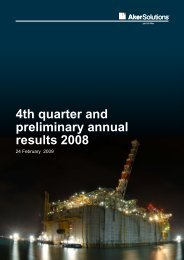4th quarter and preliminary annual results 2008 - Aker Solutions